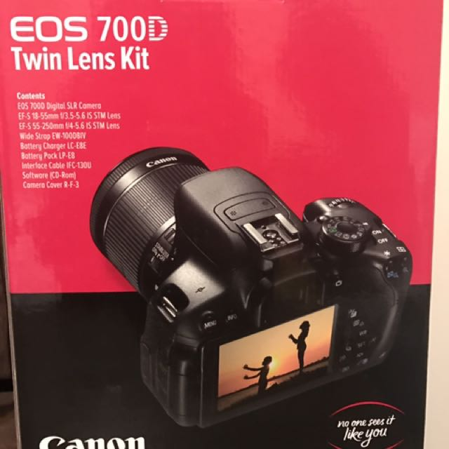 Canon EOS 700D 18MP Digital SLR Camera (Twin IS Lens Kit