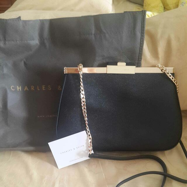 Charles And Keith Clutch/ Sling Bag