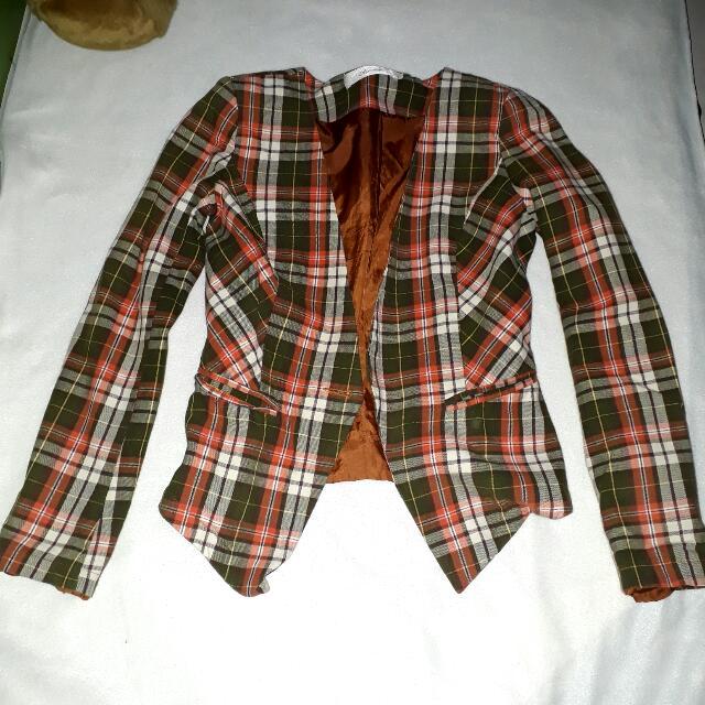 Checkered Formal Cardigan
