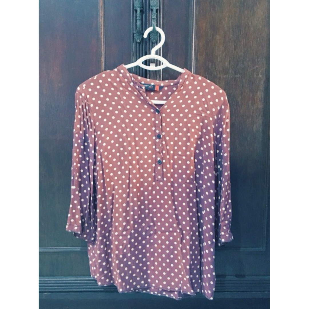 Chinese Collar Blouse Size L-XL Php 300