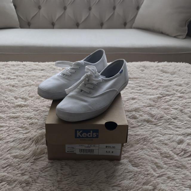 Classic Keds - White Size 5.5