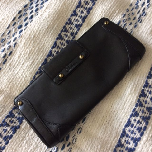 Cole Haan - Black leather clutch