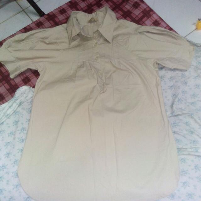 Cream brown JUANA blouse