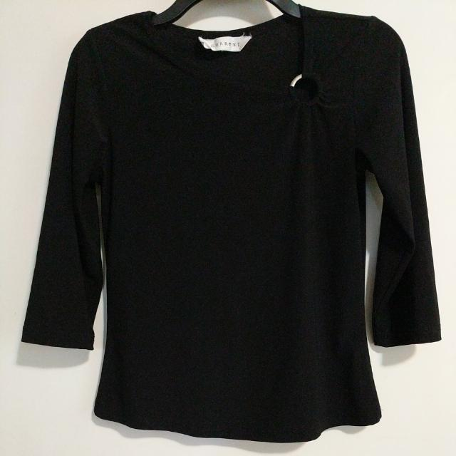 Current Black Top with metal accent