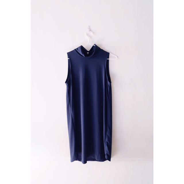 Dark blue Turtleneck Dress