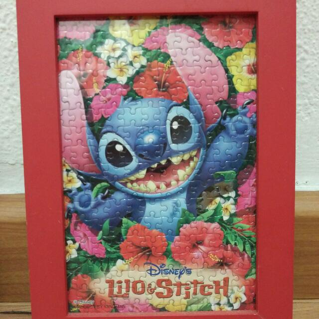 Disney Lilo Stitch Puzzle With Frame X 4 Furniture Others On