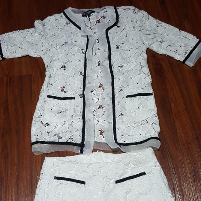 Dolce & Gabbana White LACE BLOUSE (FLOWER EDITION)