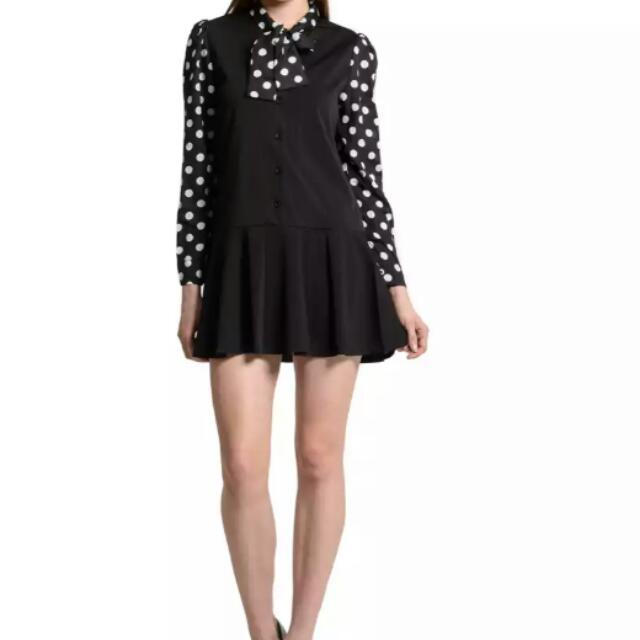 Dotted Bow Tie Dress