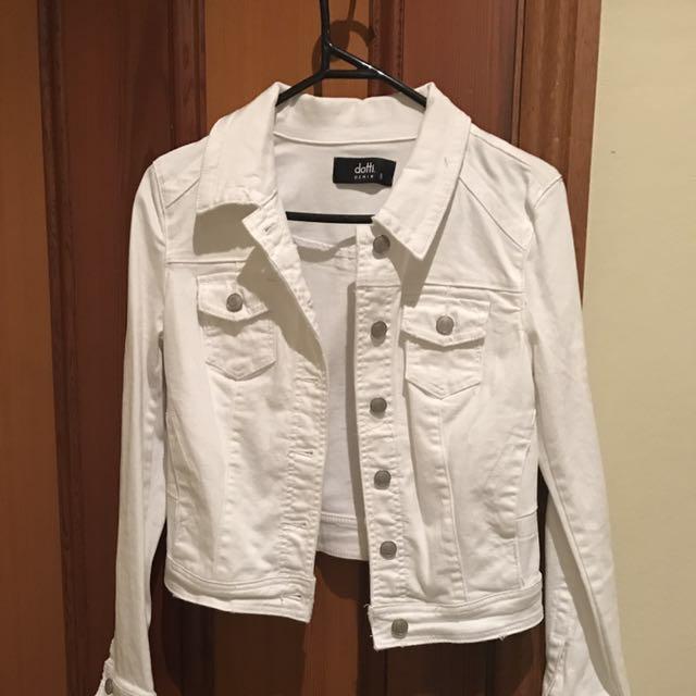 Dotti White Denim Jacket