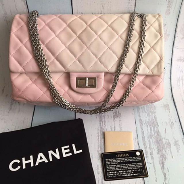 7eccdd280d6e Fast sale! Chanel reissue 227 pink ombre, Luxury, Bags & Wallets on ...