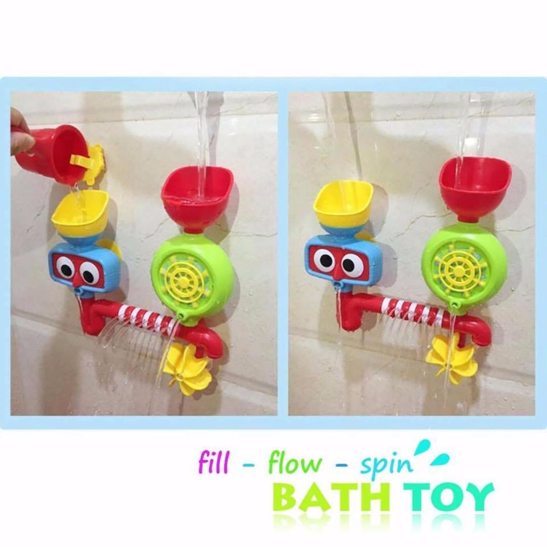 Fill-Flow-Spin Bath Toys set
