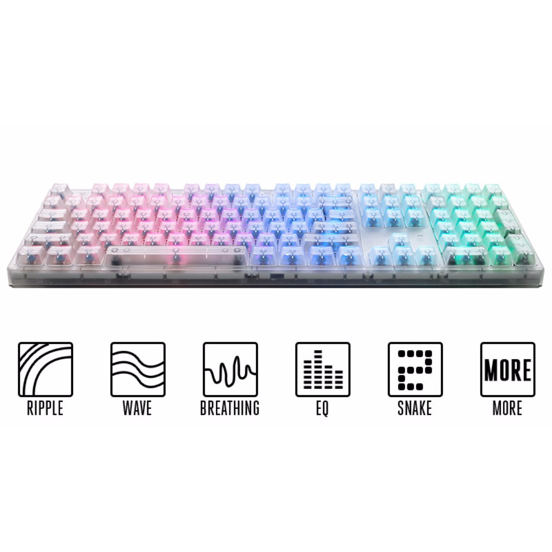 59206c825f9 Gaming Keyboard, Cooler Master MasterKeys Pro L RGB Crystal Edition ...