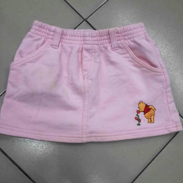 Girls Skirt Winnie the Pooh Embroidered
