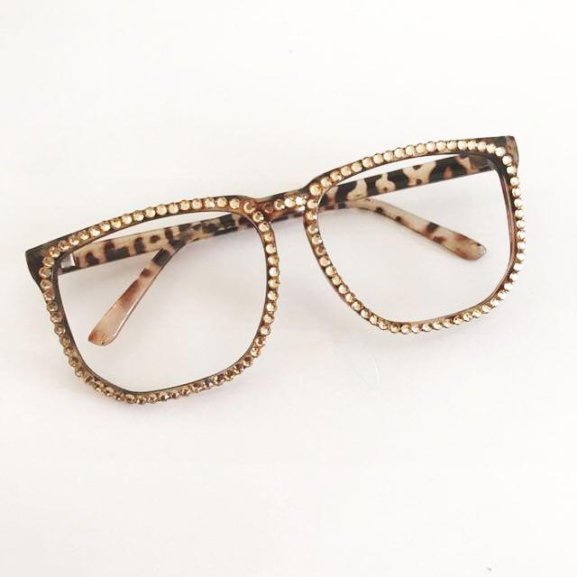 Gold Studded Glasses (no Lens)