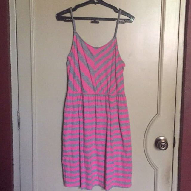 Hang Ten Pink & Grey Sundress