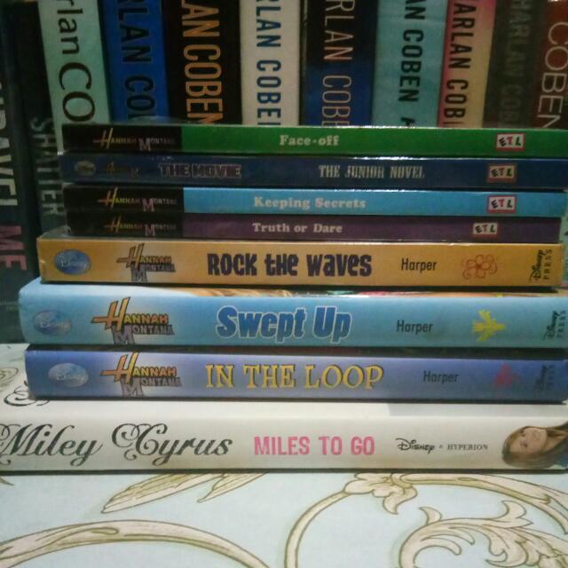 8 Hannah Montana Books Bundle