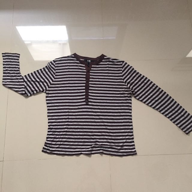 HE By Mango Stripes Shirt With Long Sleeves