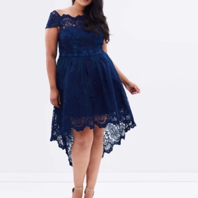 Hi Lo Lace Dress (plus Size)