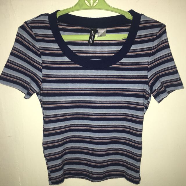 H&M Striped Crop Top