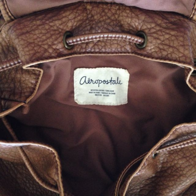 Imitation Leather Backpack