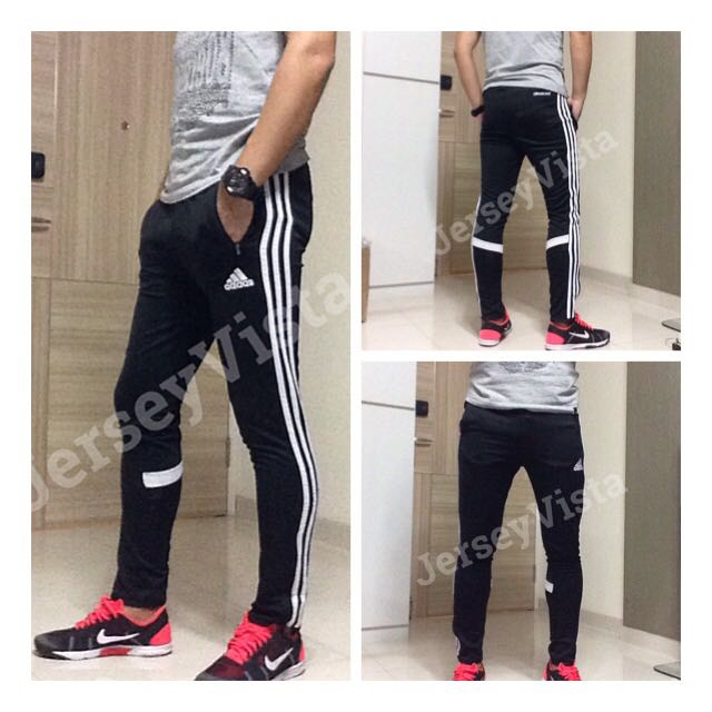 7e1371a1 INSTOCK XL Adidas jogger Track Sweat Long Pants Football Training Slim Fit  Skinny Fit, Sports, Sports Apparel on Carousell