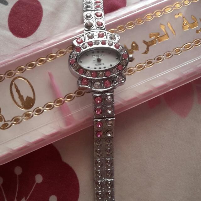 Jam Tangan Cantik Pink Silver
