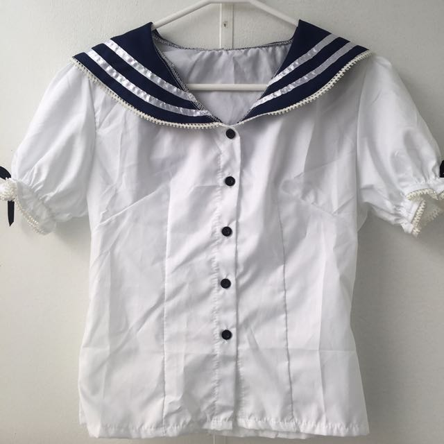 Kawaii Sailor/School Girl Blouse Size 8/10
