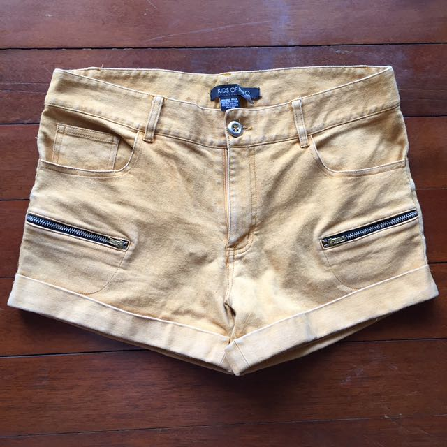 Kids of Bayo Mustard Shorts