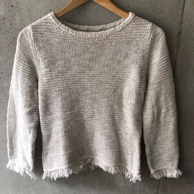 Knit Sweater From Designer By Malene Birger (Small)