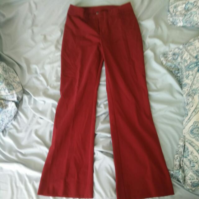 Le Chateau Red Pants: Size 7