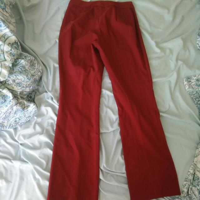 Le Chateau Red Pants: Size 7