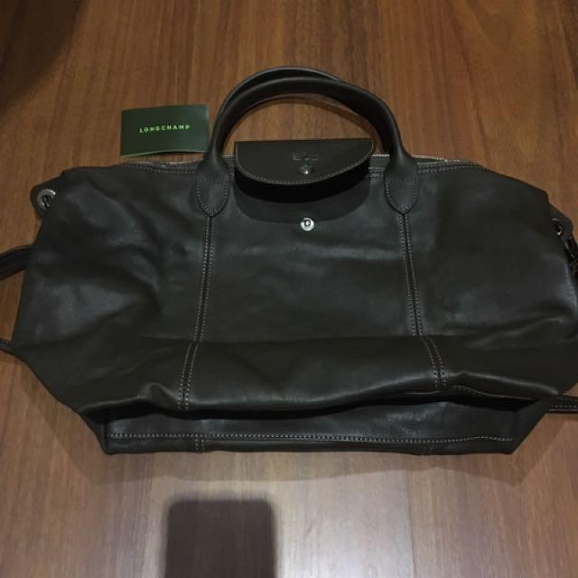 Longchamp Le Pliage Cuir Leather Medium