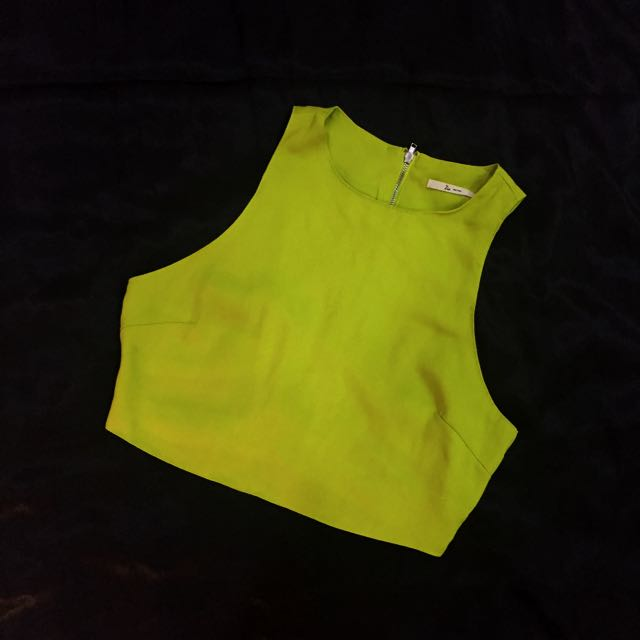 NEON(ISH) GREEN HALTER TOP