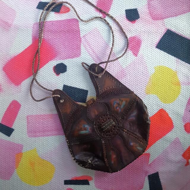 New & Super Unique Leather Hand Painted Bag From Cuba