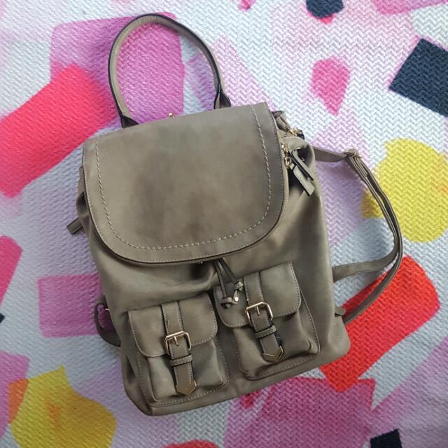 New Grey/brown Aldo Backpack