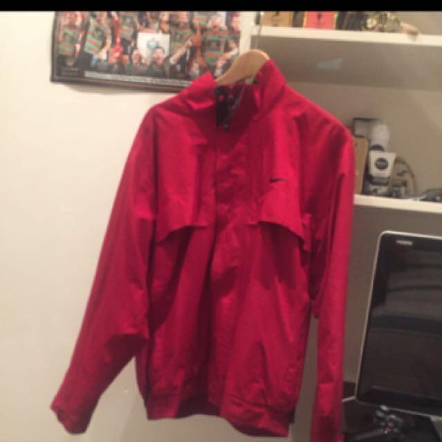 Nike Jacket Red rare Size Medium