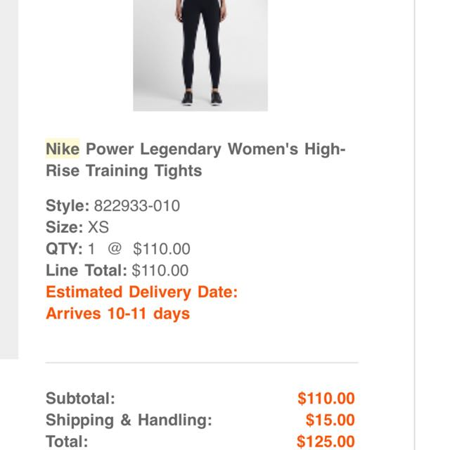 Nike Legendary High Rise Training Tights Size xs