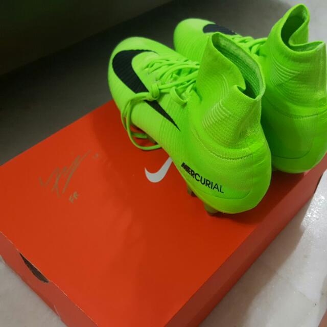 140ca1bdb Nike Mercurial Flyknit Electric Green( Metal Studs)