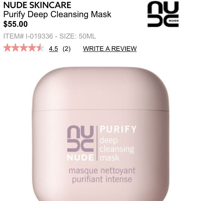 NUDE skincare detox face mask