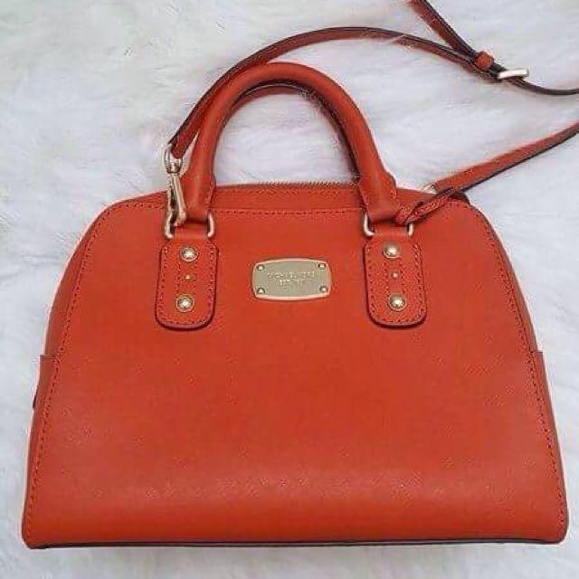 On Hand: MK Orange Saffiano Bag