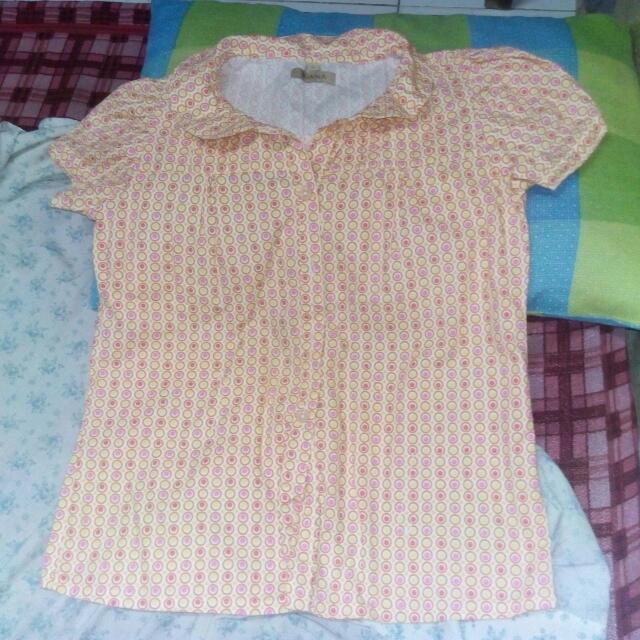 Orange polka dots blouse (JUANA)