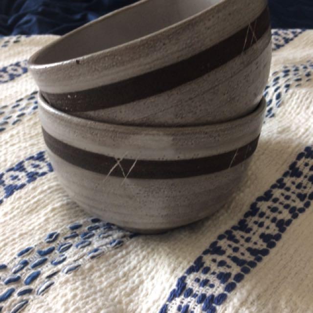 Pair Of Ceramic Bowls