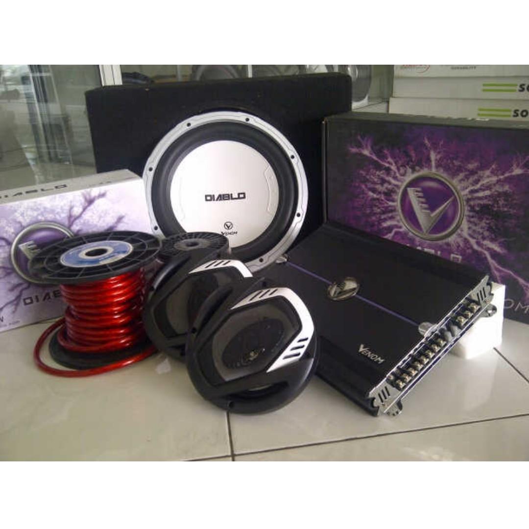 Paket Venom Diablo Juara Car Audio Panggilan Bandung Auto Voucher Rp 5000000 Accessories On Carousell