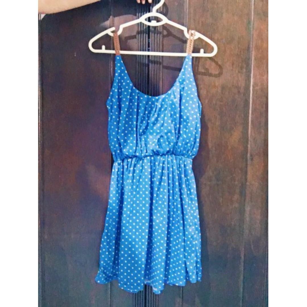 Polka Dot Short Dress Size L Php 300