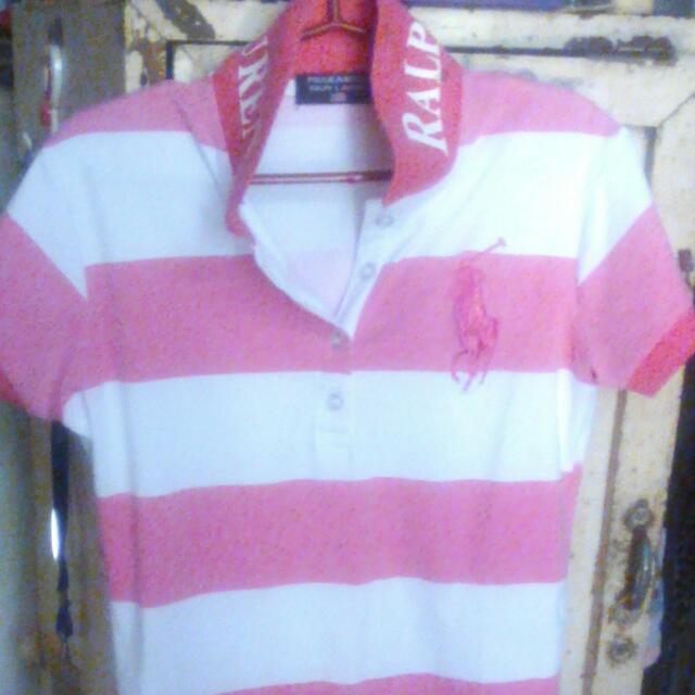 Polo Dress Pink & White
