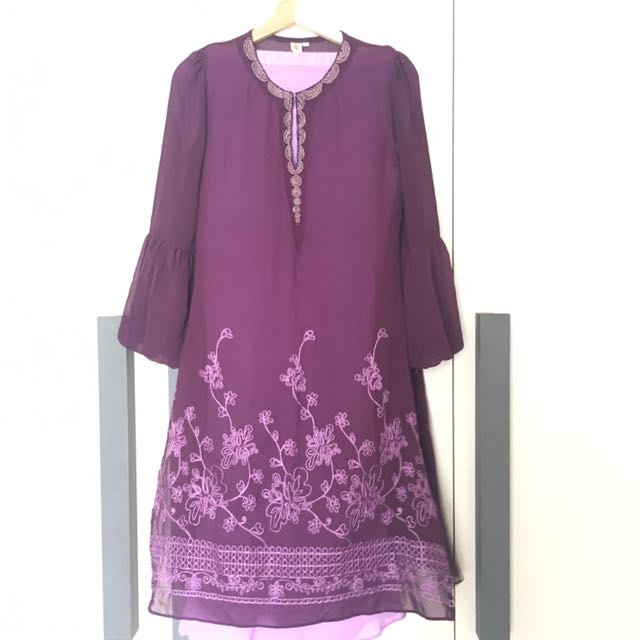Purple Modern Kurung