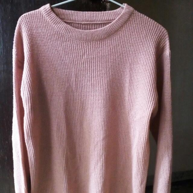 Roundhand Sweater Dusty Pink