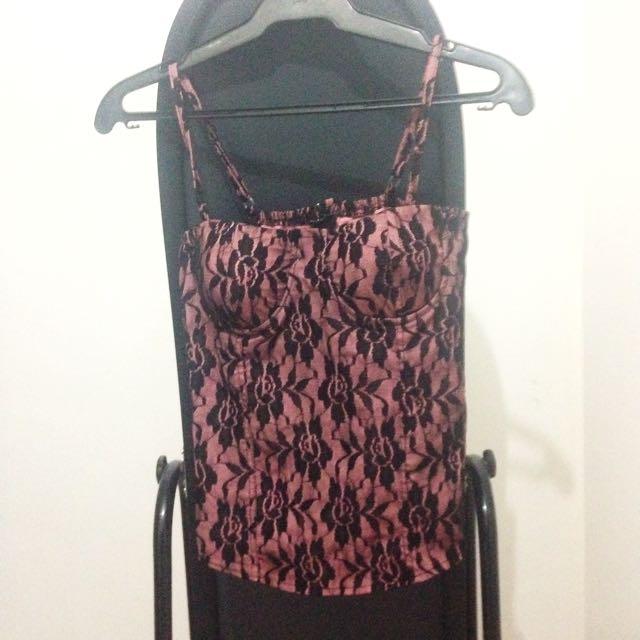 Sexy Pink&Black Corset