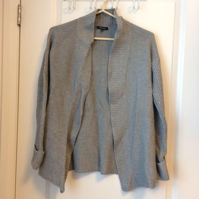 Silver/Grey RW&Co Cardigan