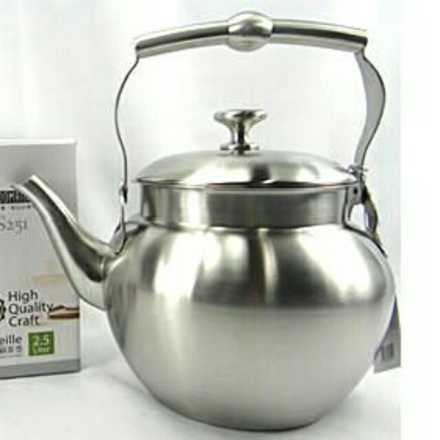 SODAMAIN 仙德曼 304 高級不鏽鋼茶壺 2.5L SS251 茶壺/不銹鋼/不燙手/大容量